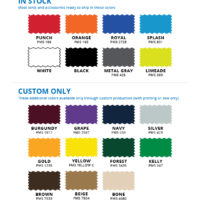 Vue 5x5 tent sidewall color options