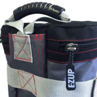 E-Z Up Deluxe Weight Bag Set with zipper detail.