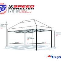 Replacement Frame Speed Shelter 8x12 Diagram