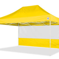 15' Food Booth Sidewall in Yellow