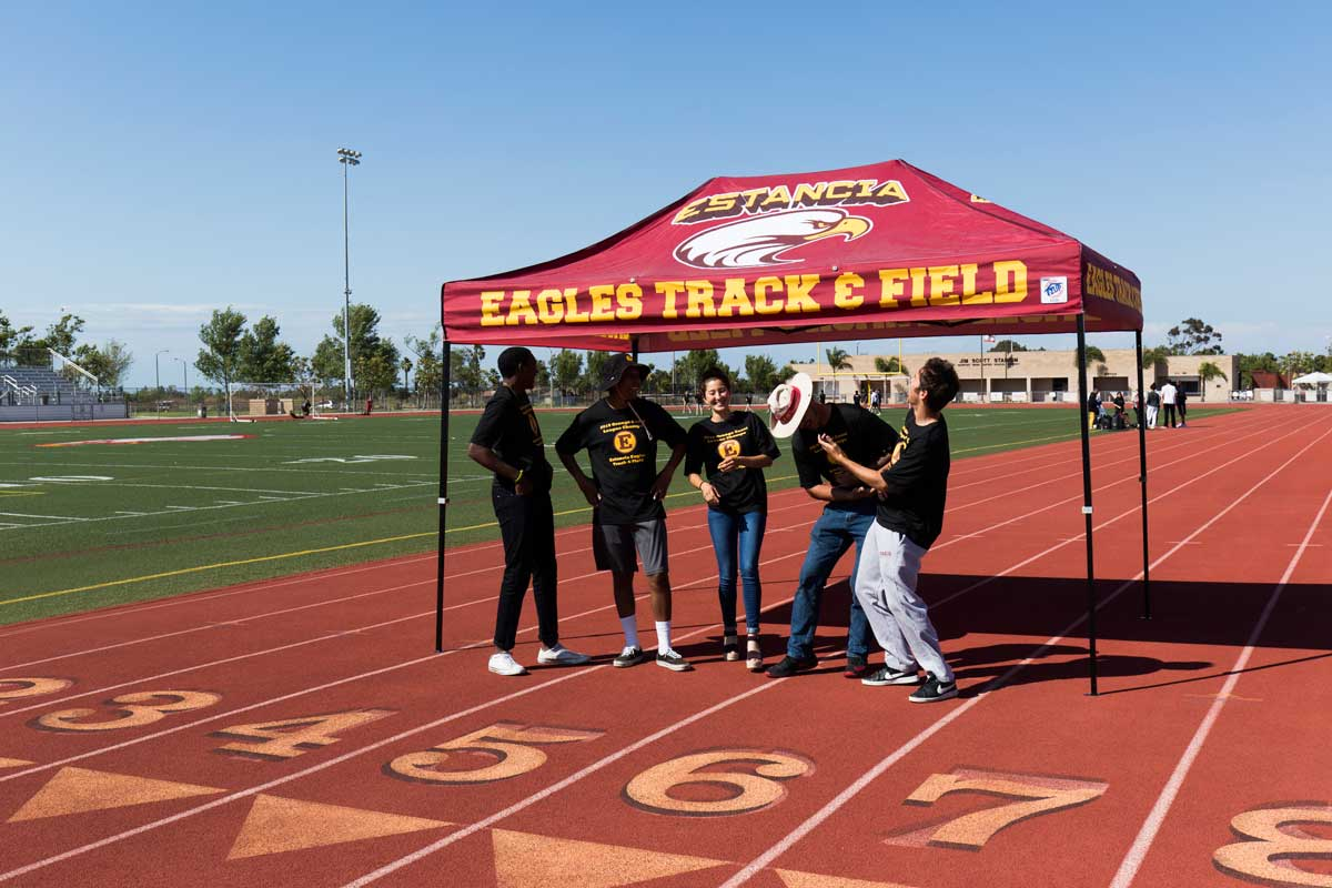 track and field tent
