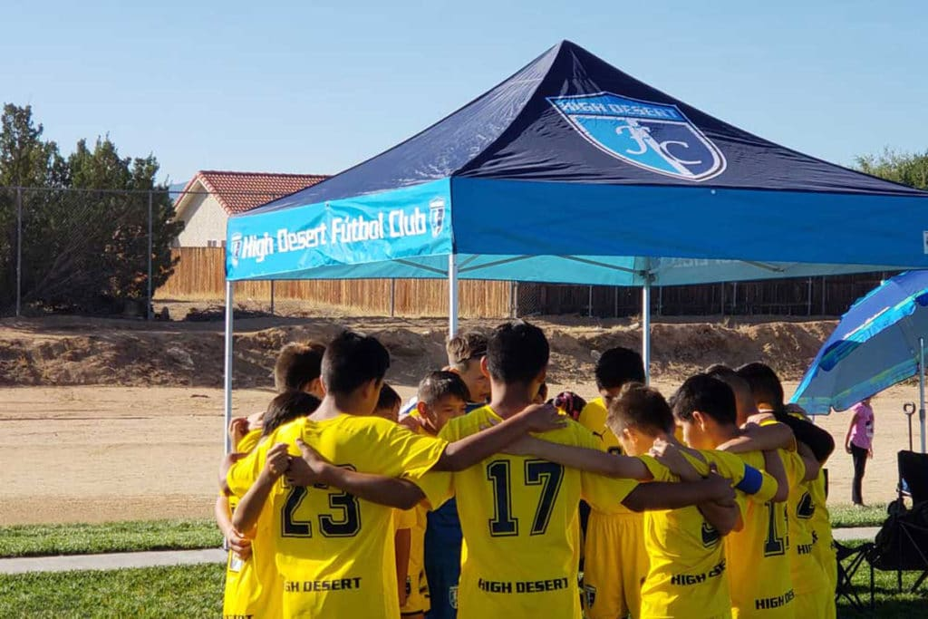 BuyShade Soccer Tent with Youth Team